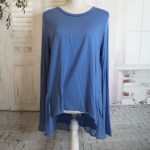 3/$30 Kenneth Cole blue high low split back tunic